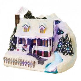 Maison de Noël avec riviere LED en fibres optique