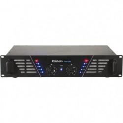 IBIZA AMP300 Amplificateur de sonorisation 2 x 240W - Noir