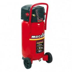 MECAFER Compresseur d'air vertical 50 L sans huile 2CV 10 bars