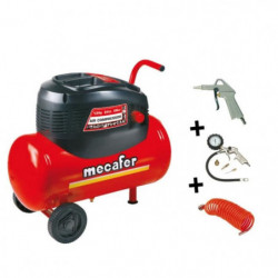 MECAFER Compresseur d'air 24L 1,5HP Oil Home Master Kit
