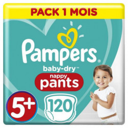 PAMPERS BABY-DRY PANTS Taille 5+ - 120 couches