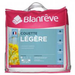 BLANREVE Couette légere Polycoton 220x240 cm blanc