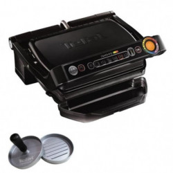 TEFAL GC7128.HB Optigrill Grill + Presse a hamburger 2000 W