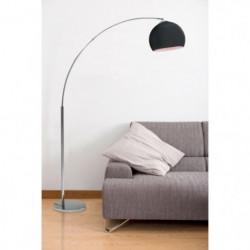 DESI Lampadaire arceau noir - H 166 cm - Contemporain