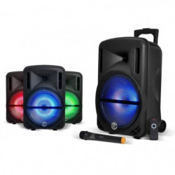 MYDEEJAY DJOON 12 Enceinte Autonome LED Bluetooth USB 500W