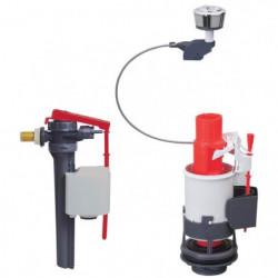 WIRQUIN Mécanisme de WC MW² double poussoirs a câble