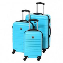 FRANCE BAG Set de 3 Valises Rigide ABS 4 Roues 55-65-70cm