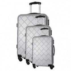 BAG STONE Set de 3 Valises 4 roues S/M/L Gris Lewis