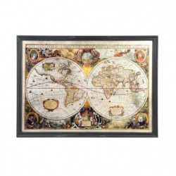 MAP Tableau déco bois et verre - 85 x 61 x 5 cm