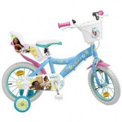 """Vélo 14"""" Vaiana - Fille - Bleu"""